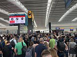 Chaos at Heathrow Airport as passengers at Terminal 5 departures face massive queues