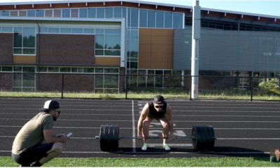 Watch an Olympian Try to Deadlift 400 Pounds and Sprint 400 Meters in 1 Minute