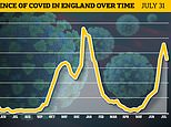 Covid England: Official data shows outbreak shrank 15% at the end of July though this may be a blip