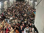 PICTURED: 640 Afghan refugees who ran onto US evacuation jet in Kabul