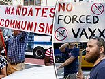 Thousands of New Yorkers protest vaccine mandate forcing workers to get shot or face losing jobs