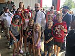 Biden poses for pictures with MAGA kids during 9/11 memorial in Shanksville