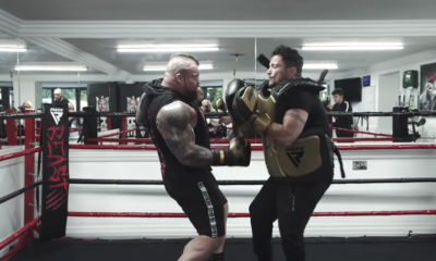 Watch Eddie Hall Punch This British Pop Star in the Chest as Hard as He Can