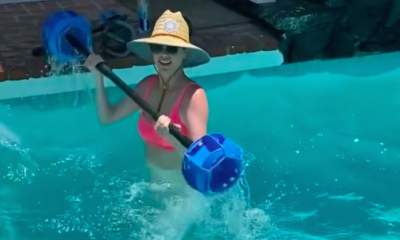 Kate Upton's Trainer Just Shared a Look at Her Challenging Pool Workout