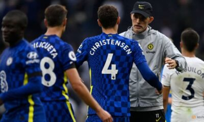 Football:  Tuchel says improved attitude sparked Chelsea's second-half rout of Spurs