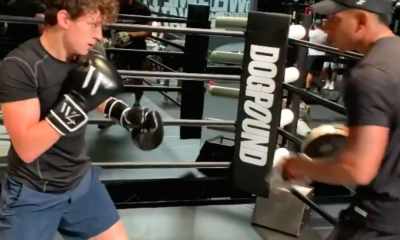 Watch Tom Holland Show Off His Boxing Skills in a Spiderman: No Way Home Training Video