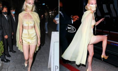Anya Taylor-Joy parties in lingerie-inspired look after Emmys 2021