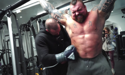Watch Strongman Eddie Hall Take a Series of Hard Punches to the Chest and Abs