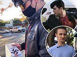California man, 19, is arrested after being caught on camera sticking swastika stickers around town