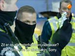 Dutch police officers laugh at British truck driver as they confiscate his ham sandwiches