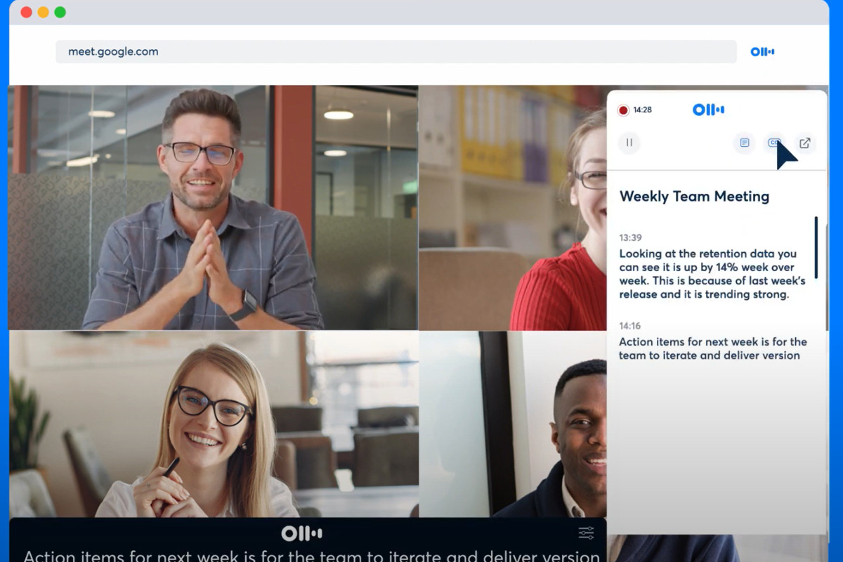 Otter's transcription service now integrates with Google Meet