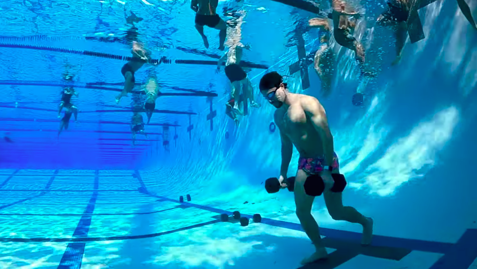 Watch This Elite Swimmer Try a Special Forces-Inspired Workout Underwater