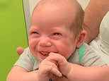 Heartwarming moment deaf baby hears his mother's voice for the first time